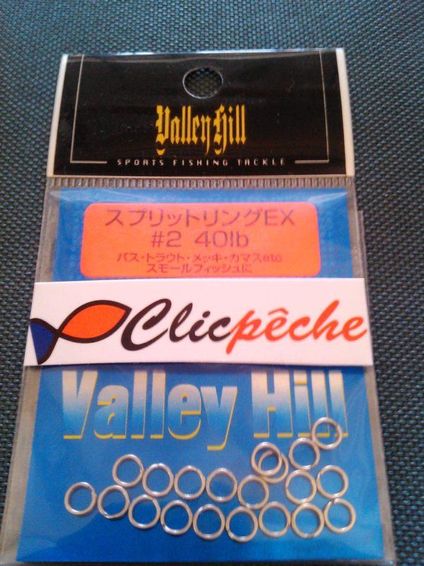 anneaux brisés VALLEY HILLS N 2 40LBS (20 PIECES)