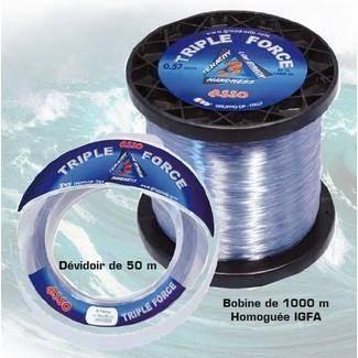 asso triple force 50mt 104/100 177 lbs - Clic-pêche.com