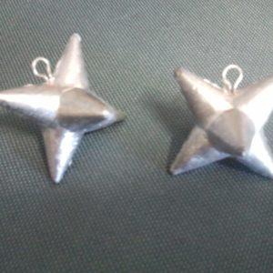 plomb étoile 100 gr ( 2 pieces )