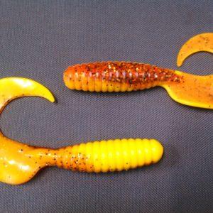 RELAX twister 130mm jaune/marron metalic (2 pieces)