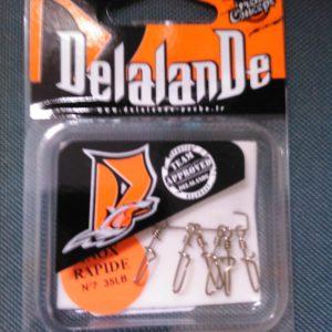 agrafe inox rapide Delalande n8 45lbs (6pieces)